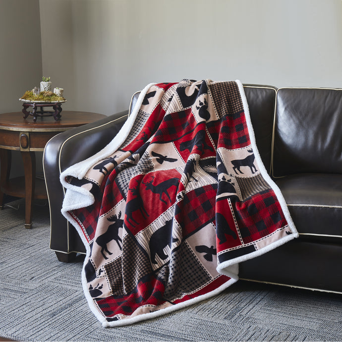 Cozy Flannel Sherpa Throws DTR