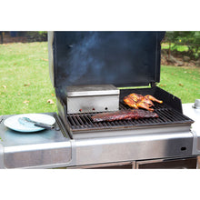 Diamond King steel grill smoker box with meats