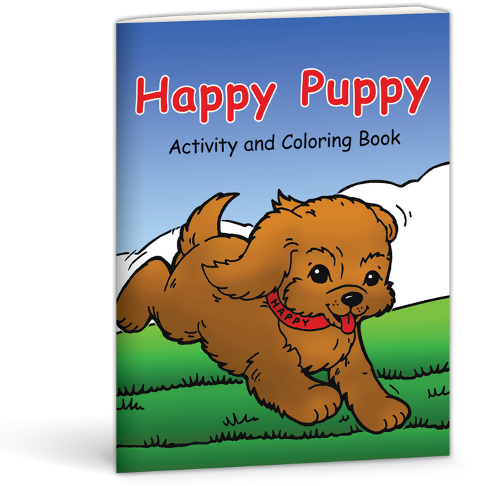 Happy Puppy Activity and Coloring Book by Mary Currier 9780878137077