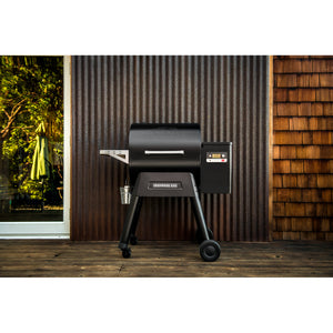Traeger Ironwood 650 pellet grill on patio