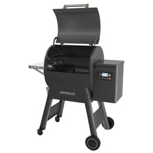 Traeger Ironwood 650 pellet grill with lid open