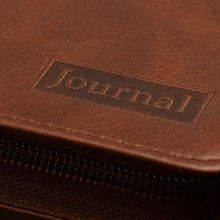Strong and Courageous Zippered Brown Journal JL138