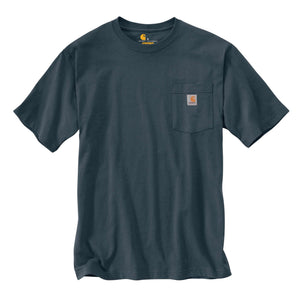 Carhartt k87 Bluestone Carhartt men's T-Shirt with Carhartt logo label.