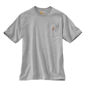 Carhartt k87  Heather Gray Carhartt men's T-Shirt with Carhartt logo label.