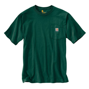 Carhartt k87 Hunter Green Carhartt men's T-Shirt with Carhartt logo label.