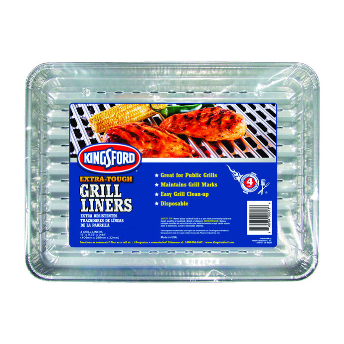 Package of 4 Kingsford grill liners