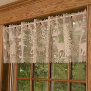 lodge hollow valance curtain
