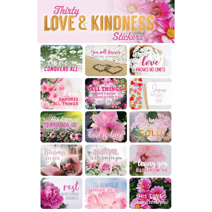 30 Love & Kindness Stickers 63140