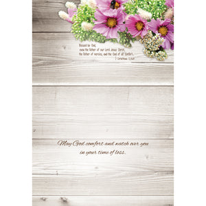 Rustic Flowers Sympathy Boxed Cards SBEG22360