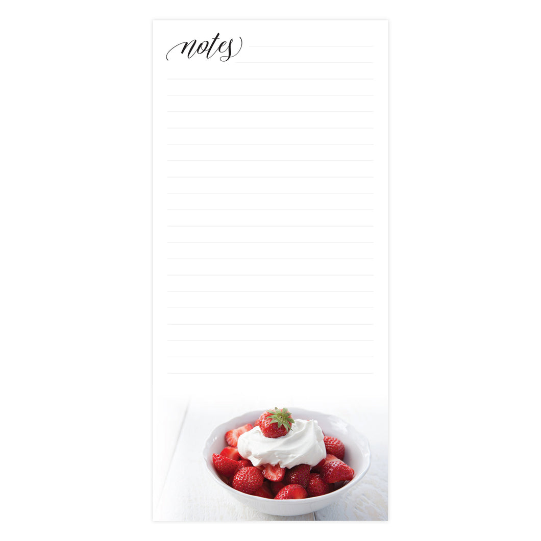 Strawberries & Cream Magnetic Memo Pad 881