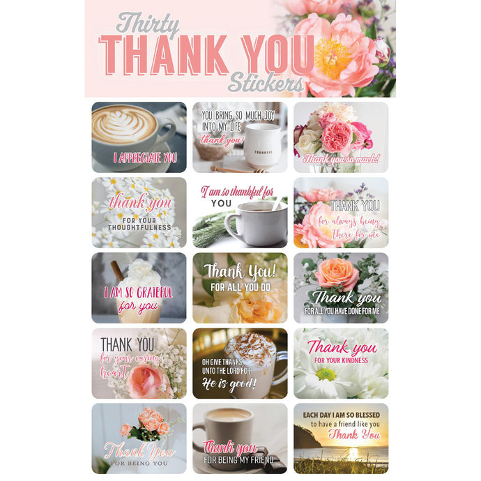 30 Thank You Stickers 63157