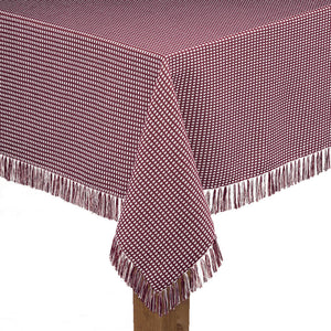 Homespun Tablecloths with Fringe