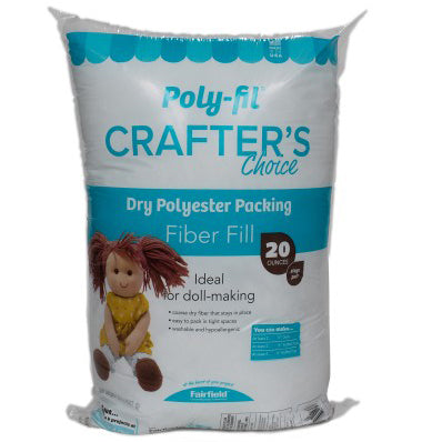 Polyester filling for dolls and stuffed animals.