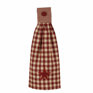 Raghu Heritage Barn Red Star Tab Tea Towel TT020017