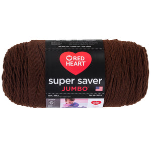 Coffee Red Heart Super Saver Jumbo yarn.