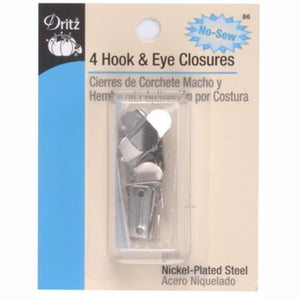 Dritz No Sew Hook and Eye Closure S-86