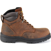 Carolina steel toe work boots, profile view.