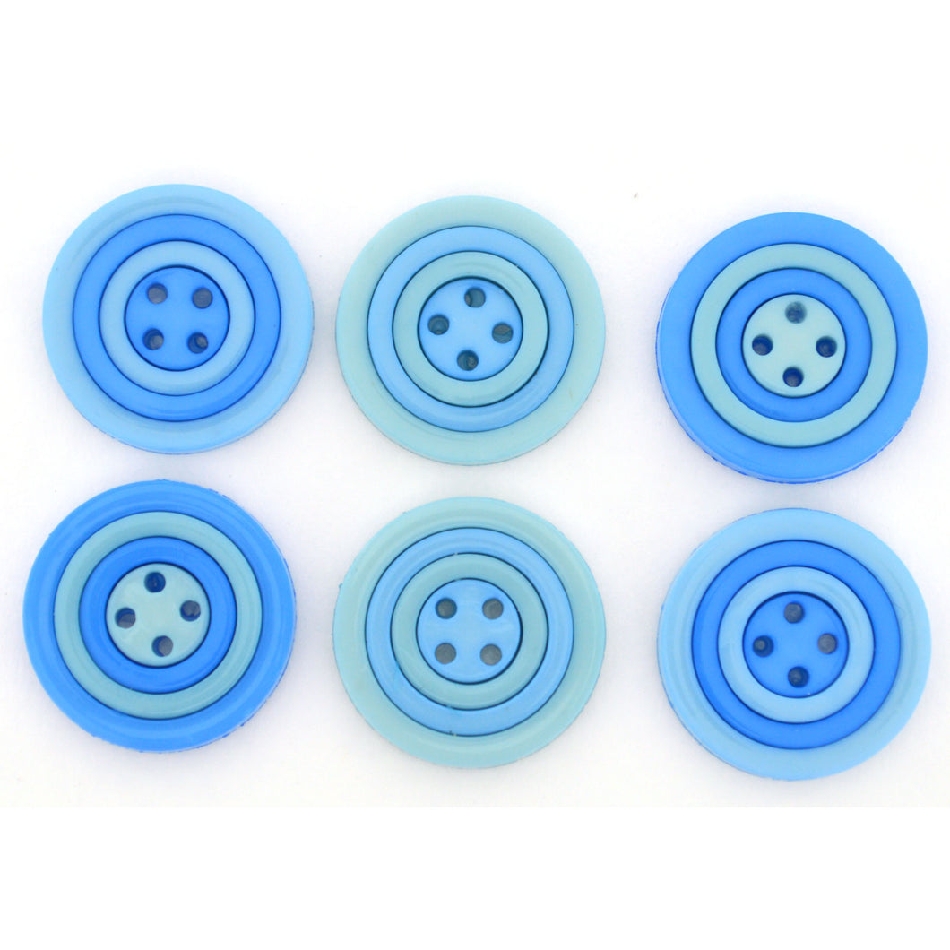 Dress It Up Buttons Circles Ocean 9458