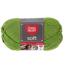 Guacamote green Red Heart yarn.