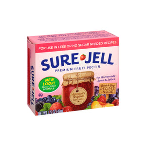 A box of Sure Jell for low sugar or no sugar recipes.