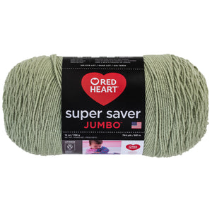Frosty Green Red Heart Super Saver Jumbo Yarn.