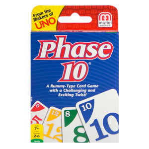 Phase 10 card game.