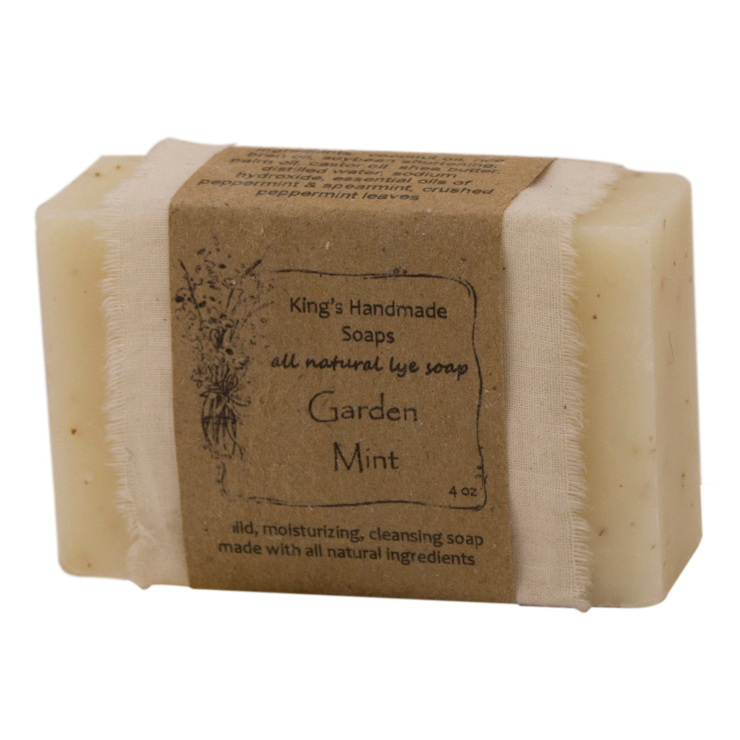 Garden mint bar soap.