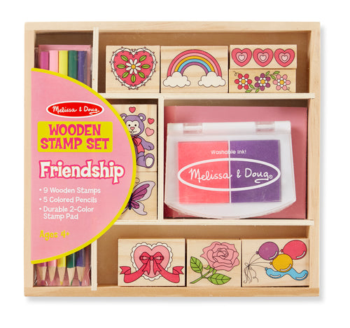 Melissa & Doug Friendship wooden stamp set.