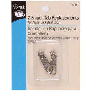 Replacement zipper tabs