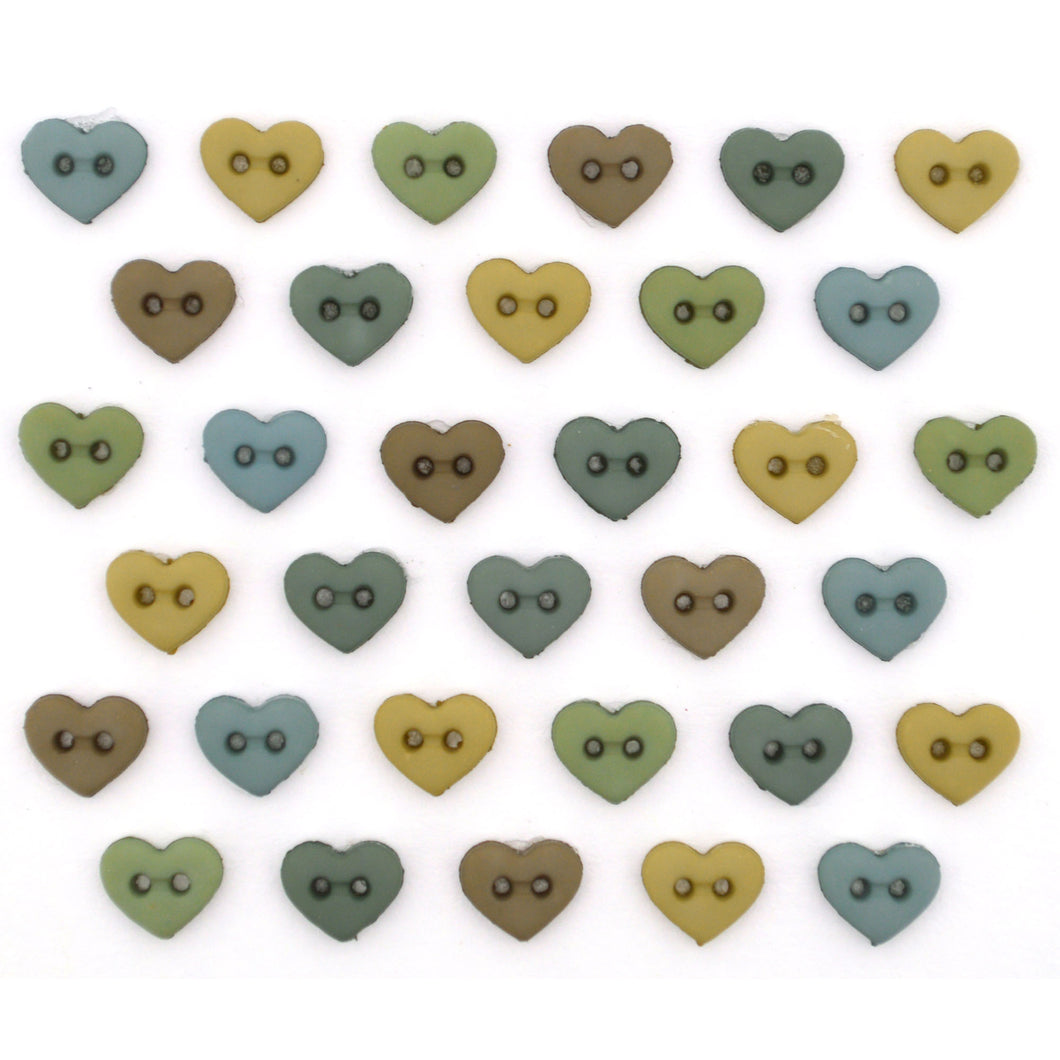 BUTTON MM HEARTS EARTHTONES