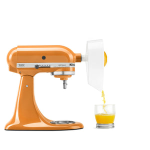 Juicer in use