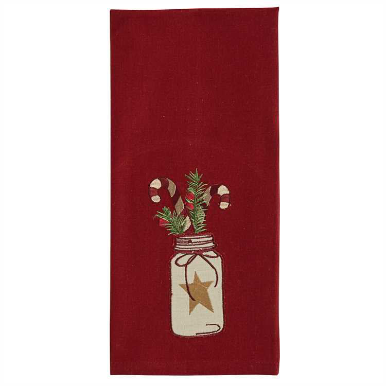 Candy Cane holiday towel