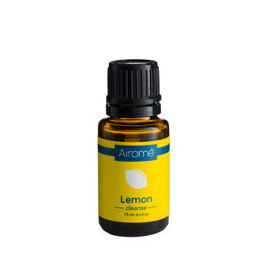 Essential Oil Lemon essential oil in bottle.