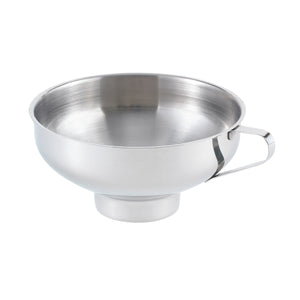 Stainless steel canning funnel.
