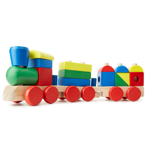 Melissa & Doug toys, stacking train.