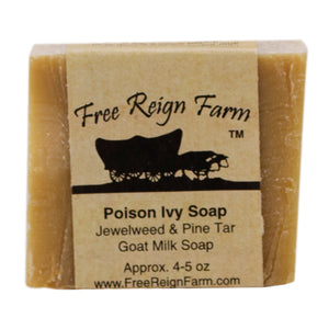 "Handmade bar soap ""Poison Ivy Soap""."