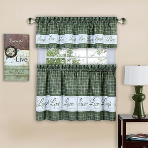 Green curtain set