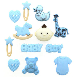 Baby Boy Button Embellishment Pack 2120