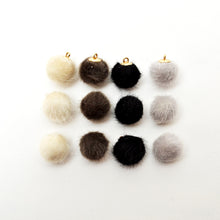 12 Neutral color pom poms