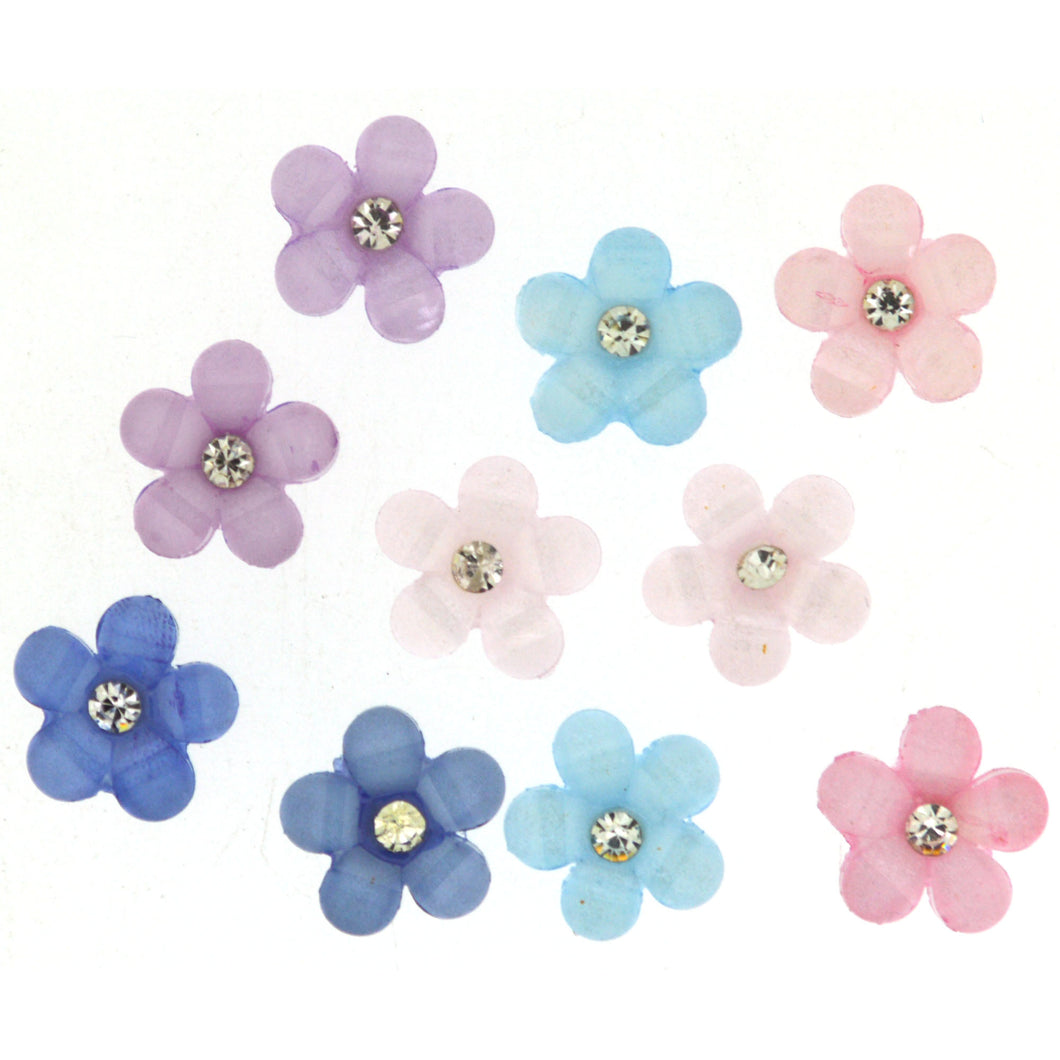 Buttons Sparkle Flowers