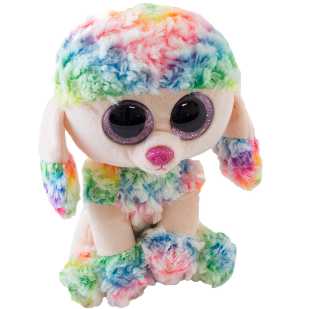 Beanie Boos Rainbow Plush poodle toy.