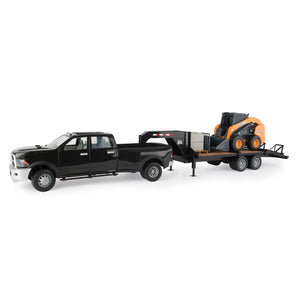Big Farm Ram Truck with Trailer and Case Skidloader 46614