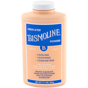 Bismoline powder bottle