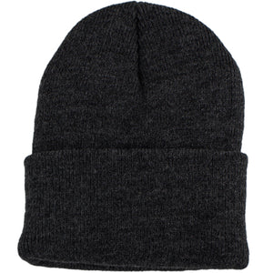 Black stretch knit cap