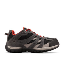 Black and flame Columbia shoes