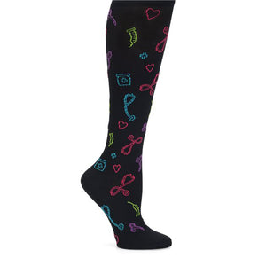 Black medical symbols sock