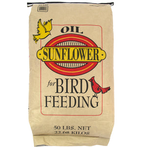 Black Oil Sunflower Seeds for Wild Birds 50 lbs 53120