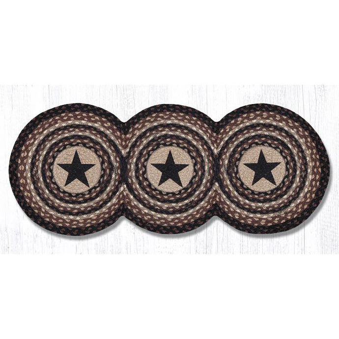 Black Star table runner