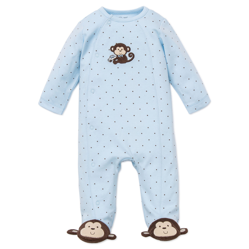 Blue monkey foot sleeper