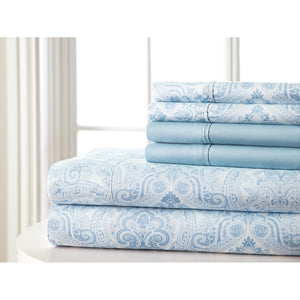 Blue Paisley sheet set